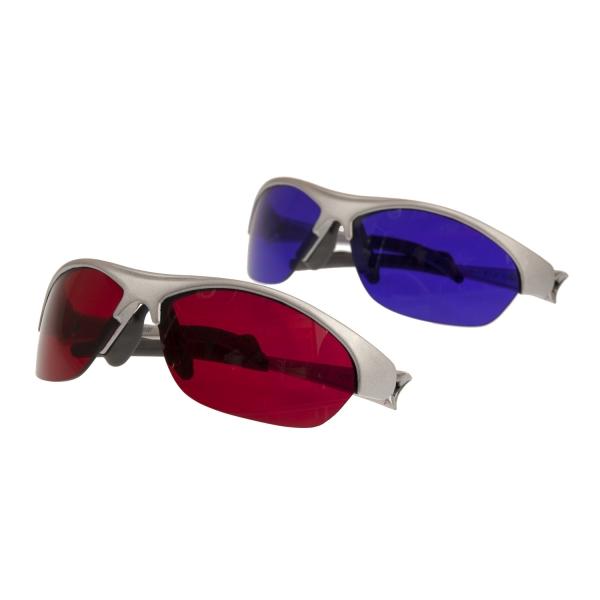 SpektroChrom Farbbrillen 2er Set - Farbe/Gegenfarbe - SCHARLACH und PURPUR - DSP