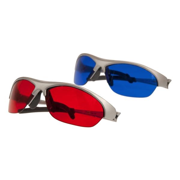 SpektroChrom Farbbrillen 2er Set - Farbe/Gegenfarbe - ROT und BLAU - DRB