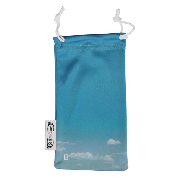 Microfiber glasses pouch - Blue (B)