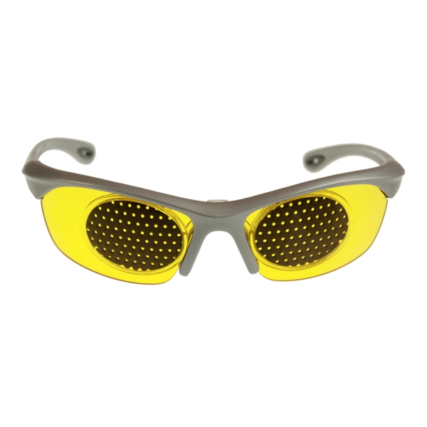 PRiSMA eye training glasses with pin hole clip MURNAU ViSION YELLOW - RAS23