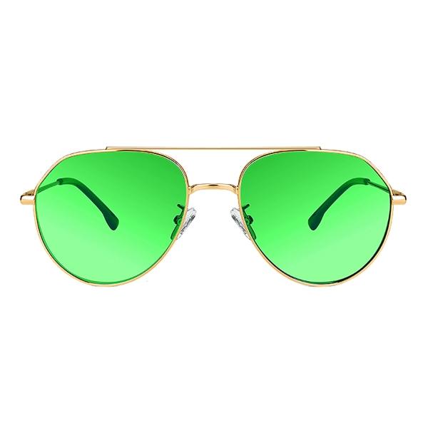 PRiSMA Sonnen-Brille FLORENZ - Sunblocker-Brille - SunProtect Grün - BALANCE - FL430