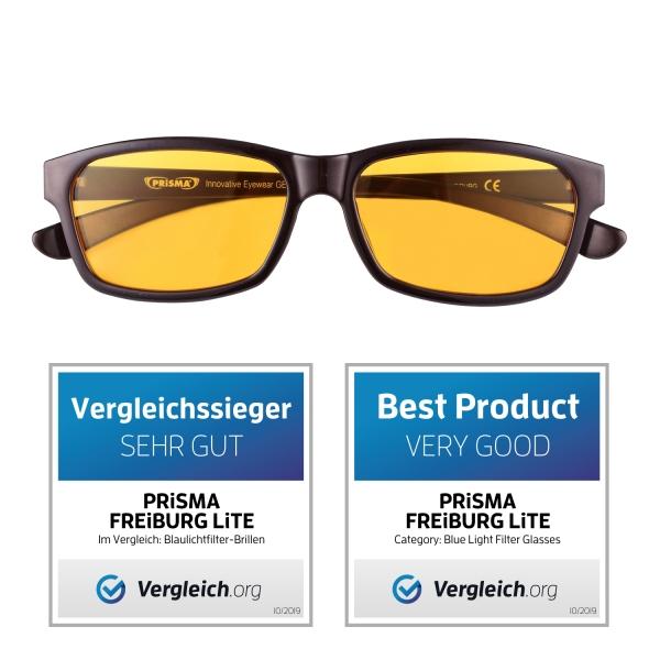 PRiSMA Blaulichtfilter-Brille FREiBURG Blueblockerbrille Anti-Blaulicht bluelightprotect LiTE - F704